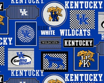 University of Kentucky Cotton Fabric-Patchwork Design-Sold by the Yard-Sykels newest pattern