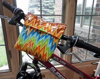 Handlebar Bag - Hippy Chevron - Laminated Cotton