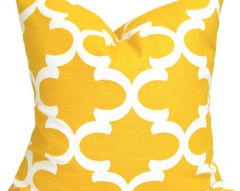 Yellow Euro Pillow Sham, Yellow Pillow Cover, 27x27, 26x26 or 22x22 Inch.Decorative Pillow, Yellow Throw Pillow, Yellow Euro, Yellow Cushion