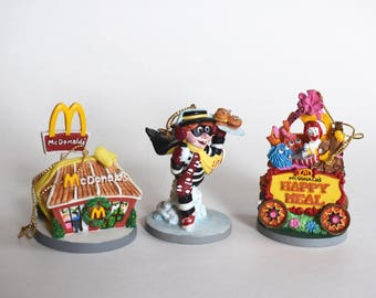 Vintage McDonald's Christmas Ornament Set