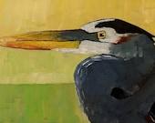 Great Blue Heron Original Oil Painting