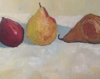 Pears Original Oil Painting