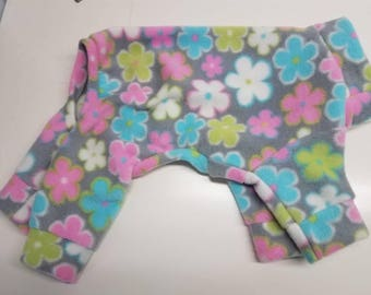 extra small floral print fleece lounge wear