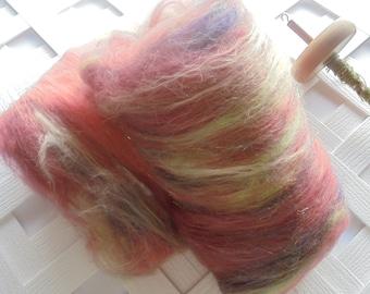 LA TRAVIATA - Art Batts to Spin, Art Batts to Felt, Merino Batt, Batt for Felting, Batt for Spinning, Spinning Fiber, Gift for Spinner, Wool