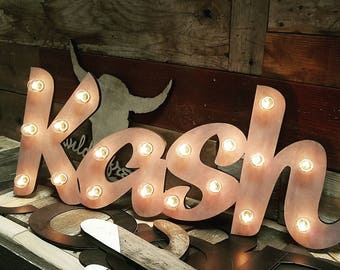 Wood Marquee Lighted Sign Custom Personalized... LOVE Play Eat BBQ Open Yum Bar Dream Custom.. Wedding Gift Anniversary Vendor Restaurant