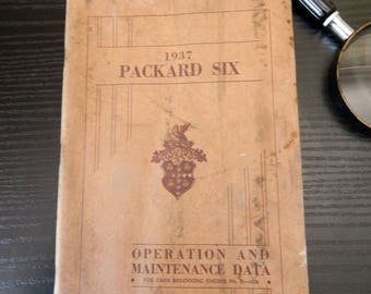 1937 Packard Six Original Operation and Maintenance Owners Manual