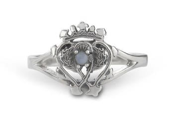 Handmade Sterling Silver Scottish Luckenbooth Ring inspired by Mary Queen of Scots