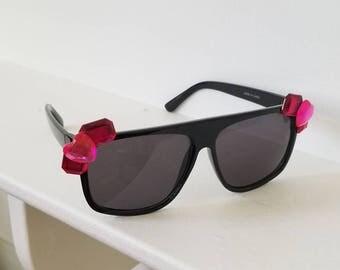 Pink Princess Embellished Sunglasses