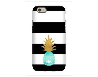 Personalized iPhone Case - Pineapple Love - iPhone 7 case, iPhone 6 tough case,