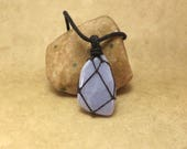 Blue Storm Agate Pendant - Throat Chakra I Speak - Reiki Stone Jewelry Communication Calm Harmony Find Your Voice - Reiki Infused Jewelry