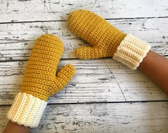 Crocheted Mittens, Crochet Women's Mittens, Mittens, Made to Order