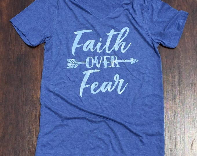 Faith over fear shirt-benefitting Sarah Newman
