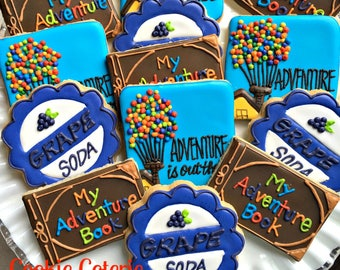 Adventure Is Out There Decorated Cookies Birthday Party Cookie Favors One Dozen