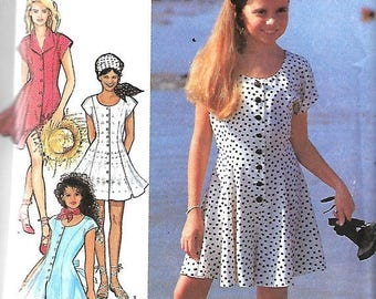 ON SALE Style 2303 Girls Dress And Playsuit Pattern, Jumpsuit, Size 9-14,  UNCUT