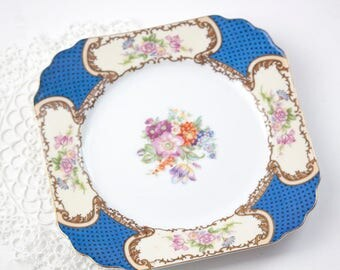 Square Plate, Goldcastle Made in Japan