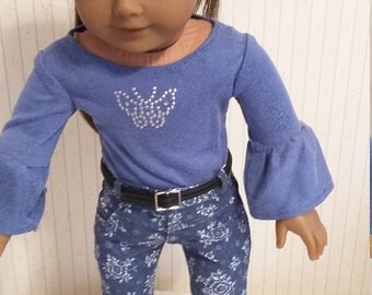 American Girl Doll Jeans and Top