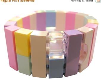 ON SALE Kawaii Pastel bracelet - made from LEGO (R) bricks on stretchy cords