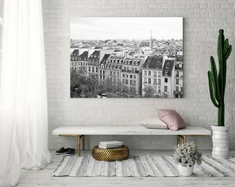 Extra large wall art, Paris wall art, framed wall art, Paris photography, wall art canvas, Paris print, canvas art, black and white, gallery