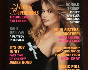 Vintage Playboy magazine from May 1997 with Donald Trump.