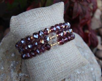 Purple Crystal beaded bracelets