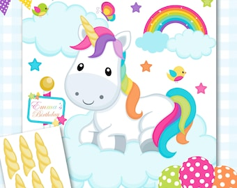 Pin the Horn on the Unicorn Game, Unicorn Baby Shower Games, Rainbow Unicorn Birthday Game, Baby Girl Baby Shower, Girl Baby Shower - #129