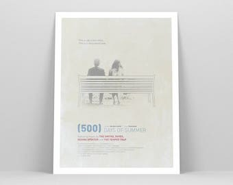 500 Days of Summer ~ Movie Poster, Film Gift, Art Print by Christopher Conner