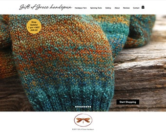 All of my handspun yarns are now available at www.giftofgracehandspun.com