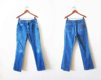 Vintage Wrangler Jeans - Wrangler Denim Jeans 30 - High Waisted Jeans - Faded Jeans - Denim Jeans High Waist - Bootcut Jeans