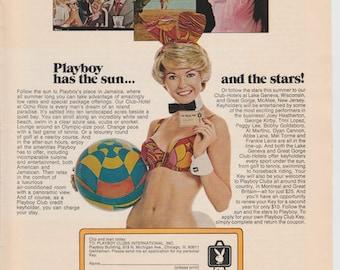 Vintage Playboy Club Ad 1971 Bunny
