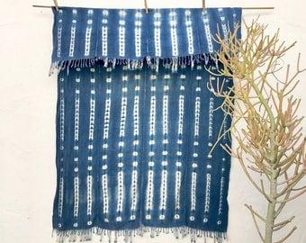 African throw blanket   Vintage Textile Indigo Blue Mudcloth Indigo Mudcloth African Indigo Fabric Indigo Cloth Indigo Beach Blanket #93