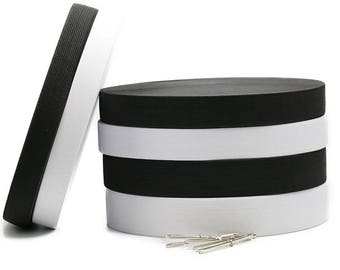 1 Roll Elastic Band-Sewing DIY Cloth Accessories-Black/White Rubber Elastic Band for Shoes/Hats/Gloves/Underwears/Braces Skirts/Cuffs/Belts