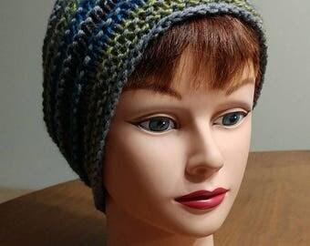 OOK handknit wool hat - very slouchy -M/L