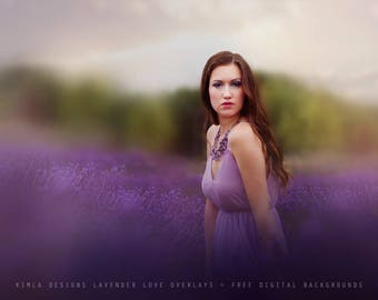 Lavender Love Photo Overlays + Free Digital Backgrounds