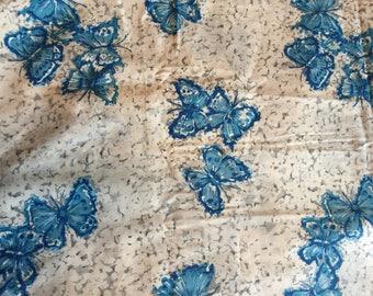 5yds 50s Butterfly Novelty Print Crisp Cotton Fabric
