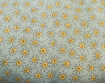 Garden Whimsy Blue/Yellow Dot