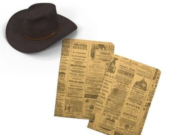 On Sale 100 6x9 Newspaper print Paper Bags,  Vintage style Newsprint Kraft Favor Bags