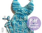 baby KARMA Crochet Pattern - Triangle style top Monokini by Hadley Paige Designs. Boho kids.  Summer wear. 12-24 months