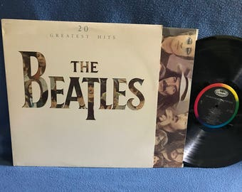 "RARE Vintage, The Beatles - ""20 Greatest Hits"" Vinyl LP Record Album, Original First Press, Help, A Hard Days Night, Let It Be, Hey Jude"