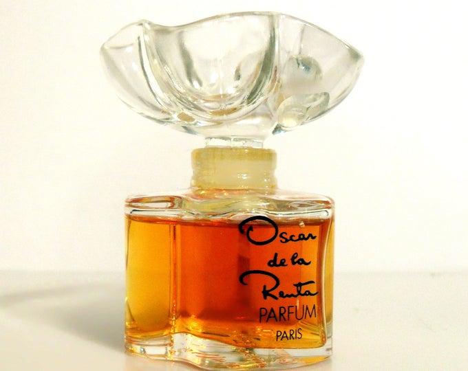 Vintage Perfume 1980s Oscar by Oscar de la Renta 1 oz Pure Parfum Splash Crystal Flacon Original Formula