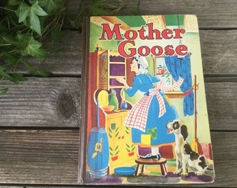 1941 Mother Goose nursery rhymes childrens book