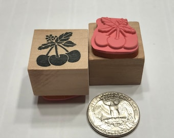 small Cherrys rubber stamp, 20 mm (BB4/5)
