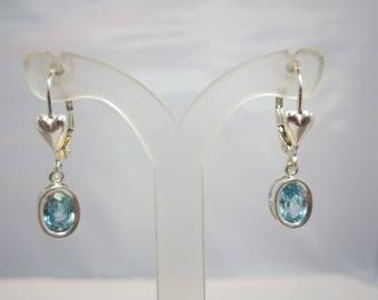 Cambodian Blue Zircon Earrings