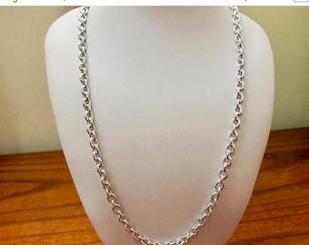ON SALE Vintage Aluminum Link Chain Necklace Item K # 536