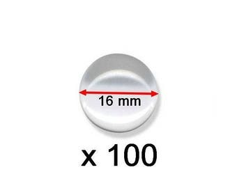 100 round glass cabochons 16mm curved lot wholesale