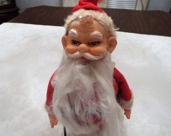 1960s  Santa , Vinyl, Retro Christmas Collectible