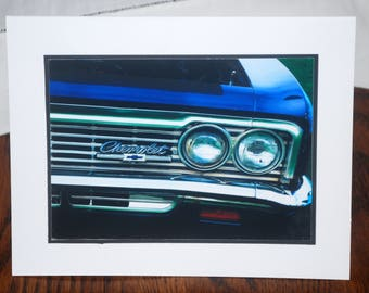 photo card, classic car photograph, retro, vintage Chevy