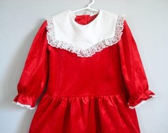 Lovely velveteen dress - Roget Ltd - 5 years