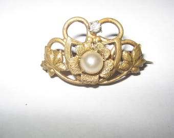 Antique Pin Brooch Vintage Costume Jewelry #524