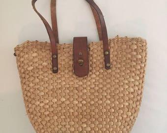 Vintage Aigner straw purse