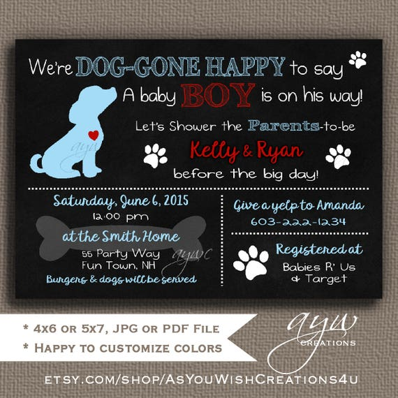 Dog baby shower invitation golden retriever puppy baby shower il570xn filmwisefo